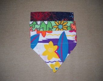 Pet Bandanas Value 3 Pack Small Fireworks / Tropical / Flowers