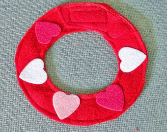 Valentine Heart Collar for Small Pets Red And Pink