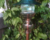Vintage Glass and Copper Decorative Garden Stake