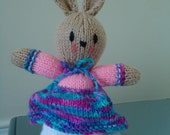 SALE ~~~ Easter basket - Mommy Bunny - Hand Knit Toy