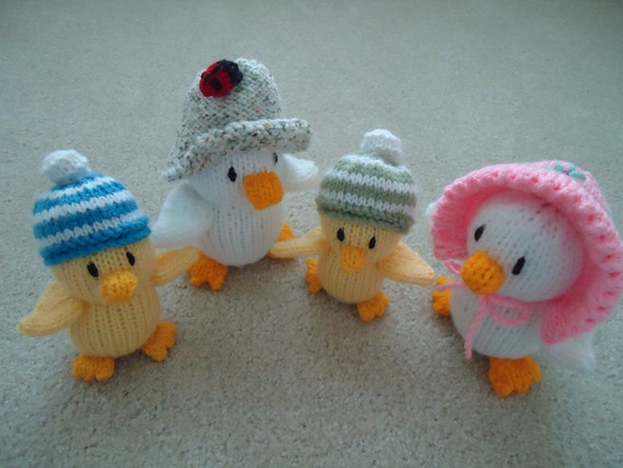Family of Ducks - Hand Knitted Soft Plush Toy
