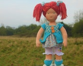"Waldorf doll called Cailyn, 16"" tall soft doll cloth toy"