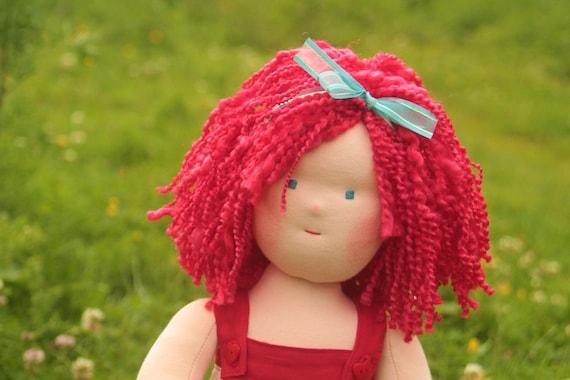 """Waldorf doll called Scarlett, 16"""" tall soft cloth doll"""