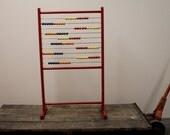Vintage Wooden Kids Abacus Teacher Playroom Decor