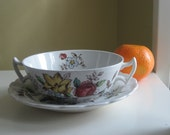 Vintage Booths Flowerpiece Bowl and Saucer