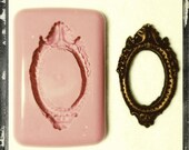 Baroque Oval Frame Silicone Mould