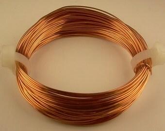 COPPER CRAFT WIRE 21ga  2 oz  56 ft. (Soft) solid genuine bright copper wire
