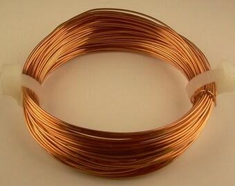 COPPER CRAFT WIRE 14ga  2oz  11ft ( soft ) solid genuine bright copper wire