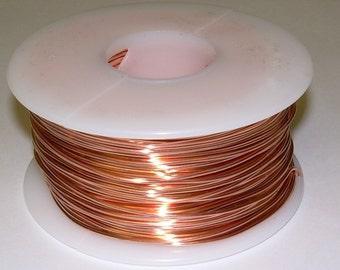 Genuine Solid Copper Wire  14 ga  10 OZ. 55 Ft. ( Half Hard ) bright copper
