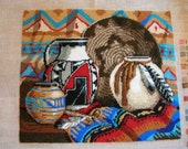 Needlepoint - Southwestern Design - Completed and Ready to Frame