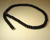 black onyx beads rondelle 1 strand of 75-80 beads per strand 8mmx5mm
