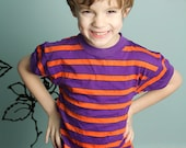 Boys Striped Vintage T Shirt / Retro Children' s Clothing / Size Small