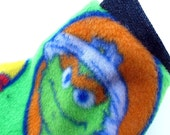SAMPLE SALE Oscar the Grouch: Cotton and Fleece Reversible Dog Jacket - XXS - Extra Extra Small (Toy)