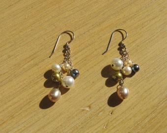 Multi-colored Pearl Earrings