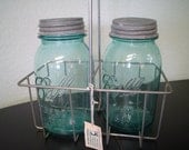 Beutiful vintage aqua blue  MASON BALL JARS