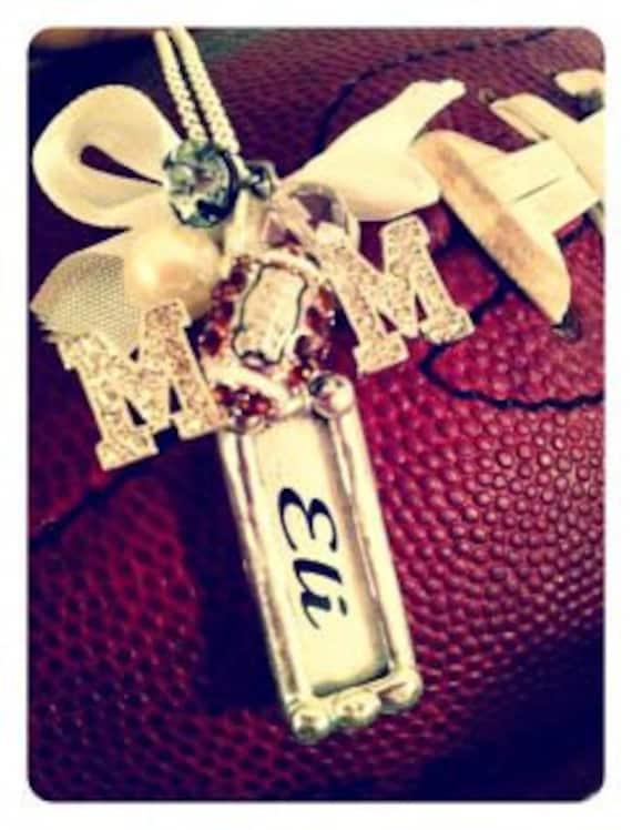 Football Mom Custom name Stick