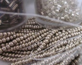 DESTASH - Vintage Czech Glass Silver Seed Beads