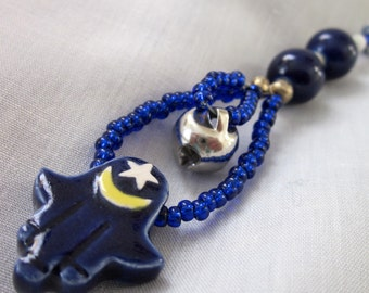 Blue Fatima Hand Prayer Beads