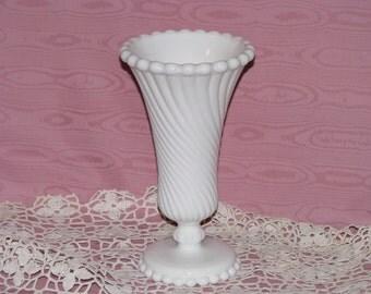 Westmoreland Swirl and Ball Vase