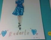 Rodarte by Caitlin Shearer for Audrey Grace, 8 by 10 print