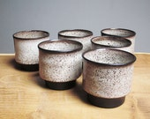 RESERVED - Set of 6 mid century modern cups by Juist Topferei