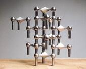 Set of 12 Mid Century modular candle holders - Nagel/Stoffi