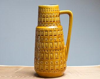 Caramel handled Inka decor vase by Scheurich (416-26)