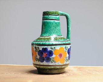 Mid century handled vase by VEB Haldensleben (East Germany)