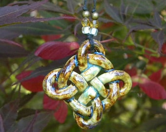 Celtic Shield Knot in Earth Tones