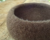 The Giving Bowl - Organic Wool Felted Bowl - Deep Earth Medium - Ready to Ship - Charity