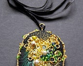 Black, Green and Gold Pendant