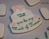 Will You Be My Maid of Honor Cookie Pack Wedding Cookies