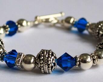 Crystal Capri Blue Bracelet