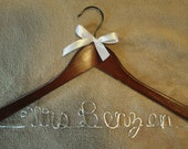 ONE Day SALE Personalized Wedding Hanger, Bridal Hanger, Bride, Bridesmaid Hanger, Custom and Personalized Bridal gift, wedding photo prop
