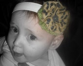 Blue and green Flower Clip/Headband  (Super low Prices Grand opening Sale)