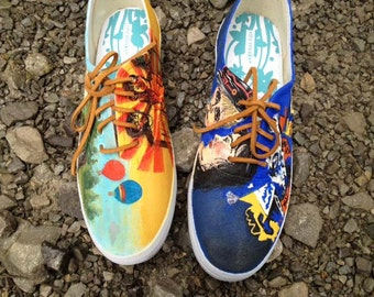 Zombie Carnival, Animal Collective Custom Painted Shoes