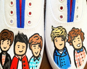 One Direction Inspired Custom Painted Shoes