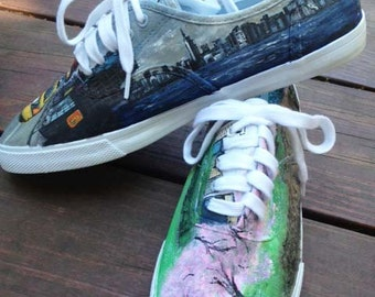 New York City Inspired Custom Painted Shoes