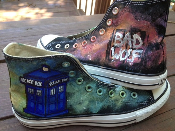 Doctor Who Custom Shoes (Reserved for Jill)