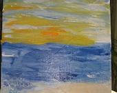 Original art--Sunset painting