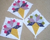 Ice Cream Cone Flower Bouquet Pieced Quilt Blocks