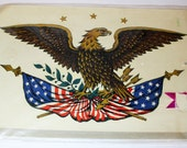 COLONIAL EAGLE DECAL - Americana sticker / transfer for wall, wood, furniture project (c. 1960s)