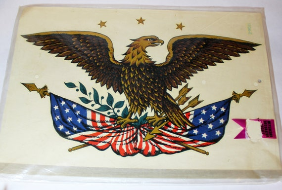 Colonial Eagle Decal Americana Sticker Transfer For By