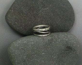 Multi-Textured Sterling Silver Rg-129