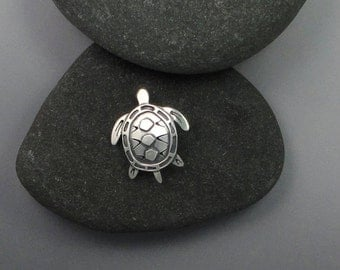 Turtle Pendant Sterling Silver