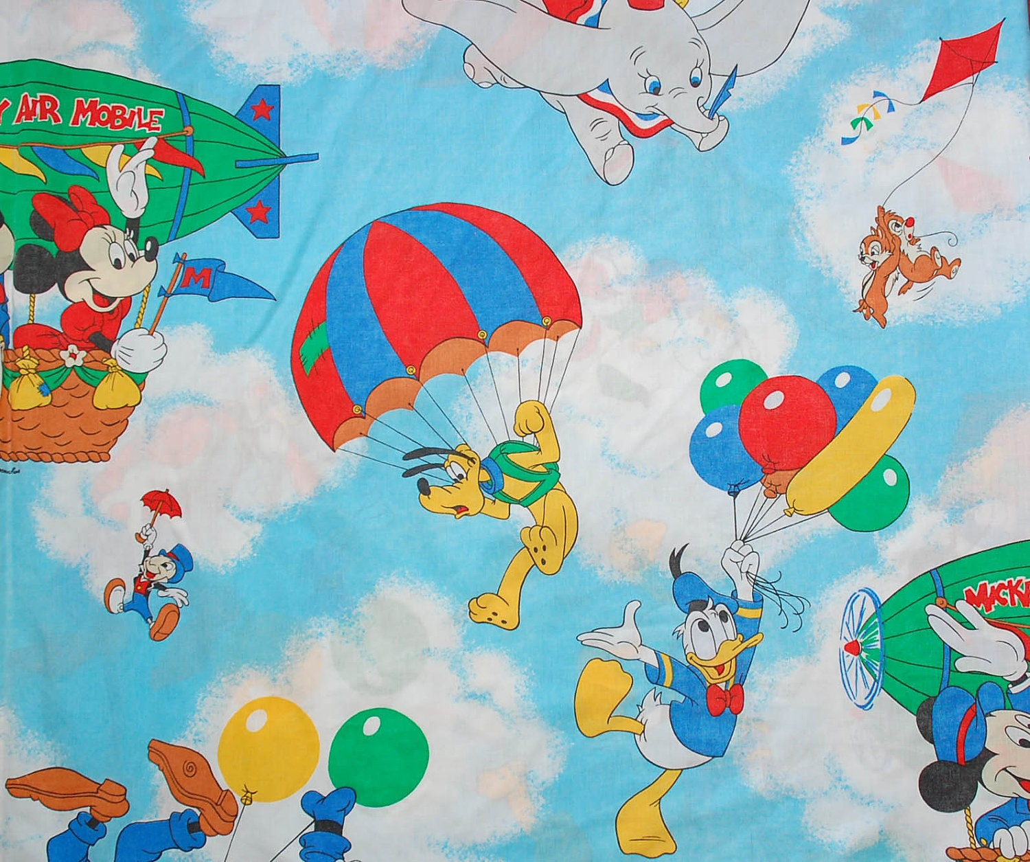 Vintage disney fabric for Kids character fabric