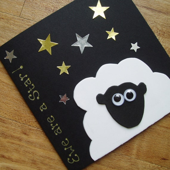 Ewe are a star. Sheep card for any occasion