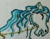 The Hippocampus -  Half Horse and Half Fish - Hand Embroidery Pattern PDF