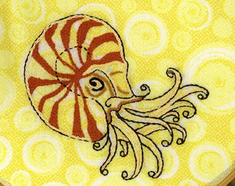NAUTILUS - Hand Embroidery Pattern PDF