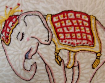 Circus Elephant - DIY Hand Embroidery PDF Pattern